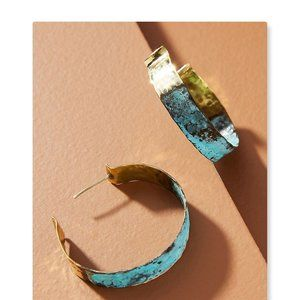 Anthropologie Lena Bernard Mega Hoop Earrings
